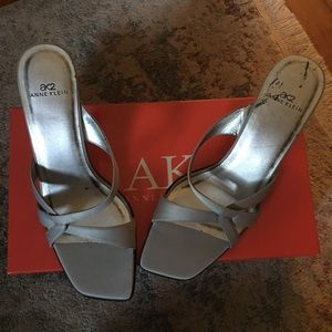 Anne Klein silver sandal